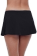 Profile by Gottex Tutti Frutti Black Side Slit Cinch Swim Skirt