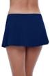 Profile by Gottex Tutti Frutti Navy Side Slit Cinch Swim Skirt
