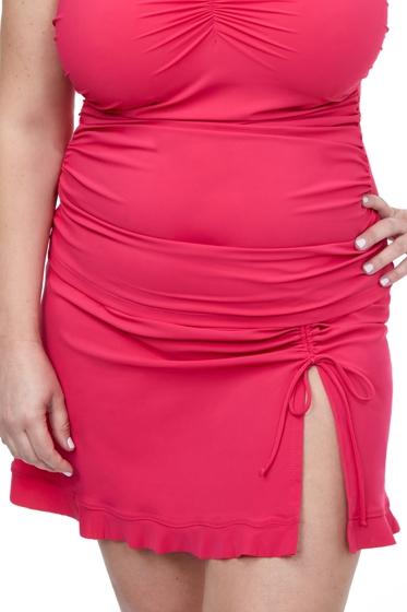 Profile by Gottex Tutti Frutti Plus Size Side Slit Cinch Swim Skirt