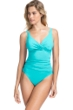 Profile by Gottex Tutti Frutti Light Jade V-Neck Cross Over Surplice One Piece Swimsuit