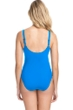Profile by Gottex Tutti Frutti Blue V-Neck Cross Over Surplice One Piece Swimsuit