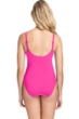 Profile by Gottex Tutti Frutti Pink V-Neck Cross Over Surplice One Piece Swimsuit