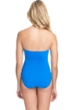 Profile by Gottex Tutti Frutti Shirred Front Bandeau Strapless One Piece Swimsuit