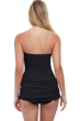 Profile by Gottex Tutti Frutti Black Bandeau Strapless Shirred Swimdress