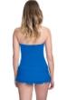 Profile by Gottex Tutti Frutti Blue Bandeau Strapless Shirred Swimdress