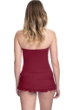 Profile by Gottex Tutti Frutti Merlot Bandeau Strapless Shirred Swimdress
