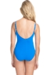 Profile by Gottex Tutti Frutti Blue V-Neck Lingerie Surplice One Piece Swimsuit