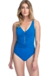 Profile by Gottex Tutti Frutti V-Neck Shirred Waist One Piece Swimsuit