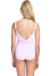 Profile by Gottex Tutti Frutti Pale Pink V-Neck Shirred Waist One Piece Swimsuit