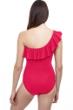 Profile by Gottex Tutti Frutti Ruffle One Shoulder One Piece Swimsuit