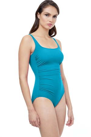Profile by Gottex Tutti Frutti Round Neck One Piece Swimsuit