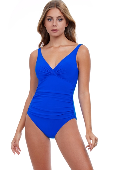 Profile by Gottex Tutti Frutti Underwire V-Neck One Piece Swimsuit