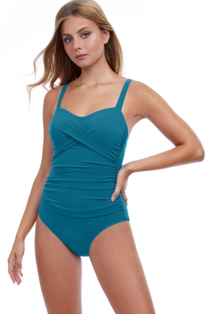 Profile by Gottex Tutti Frutti Cup Sized Underwire One Piece Swimsuit