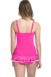 Profile by Gottex Tutti Frutti Pink D-Cup Scoop Neck Laser Cut Underwire Swimdress