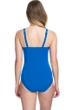 Profile by Gottex Tutti Frutti Blue E-Cup Scoop Neck Shirred Underwire One Piece Swimsuit