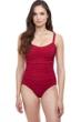Profile by Gottex Tutti Frutti Ruby Underwire E-Cup Wide Strap One Piece Swimsuit
