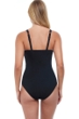 Profile by Gottex Tutti Frutti Black F-Cup Scoop Neck Shirred Underwire One Piece Swimsuit