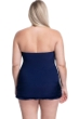 Profile by Gottex Tutti Frutti Navy Plus Size Cross Over Bandeau Strapless Swimdress