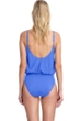 Gottex Contour Lattice Sapphire Surplice Blouson Underwire One Piece Swimsuit