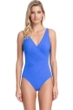 Gottex Contour Lattice Sapphire Surplice One Piece Swimsuit