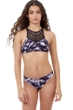 Gottex Girls Black Tie Dye High Neck Bikini Top with Matching Bikini Bottom