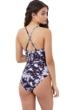 Gottex Girls Black Tie Dye High Neck One Piece Swimsuit