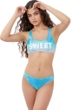 Gottex Girls Textured Ombre Bralette Bikini Top with Matching Bikini Bottom