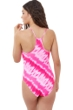 Gottex Girls Pink Tie Dye Round Neck One Piece Swimsuit