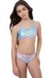 Gottex Kids Textured Ombre Bralette Bikini Top with Matching Bikini Bottom