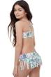 Gottex Kids Multi Palms Bralette Bikini Top with Matching Fringe Skirt Bikini Bottom