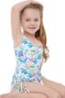 Gottex Kids Multi Palms One Shoulder Fringe Skirted One Piece Swimsuit