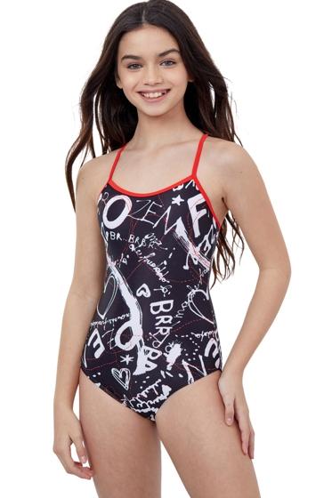 Gottex Kids Graffiti Round Neck One Piece Swimsuit