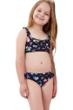 Gottex Kids Daisies Ruffle Bralette Bikini Top with Matching Bikini Bottom