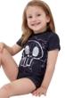 Gottex Kids Silver Skull Short Sleeve Swim Shirt with Matching Swim Short