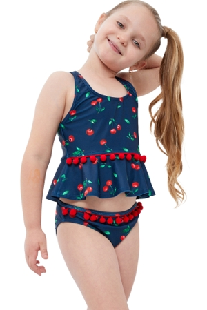 Gottex Kids Cherries Bikini Top with Matching Bikini Bottom