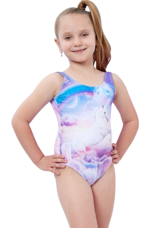 Gottex Kids Unicorn Round Neck One Piece Swimsuit