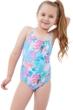 Gottex Kids Neon Palms Round Neck One Piece Swimsuit