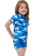 Gottex Kids Blue Camo Short Sleeve Swim Shirt with Matching Swim Short