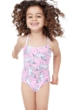 Gottex Kids Pink Unicorns Round Neck One Piece Swimsuit