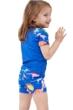 Gottex Kids Blue Dinosaurs Short Sleeve Swim Shirt with Matching Swim Short