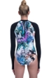Free Sport by Gottex Tropic Zone High Neck Long Sleeve One Piece Swimsuit