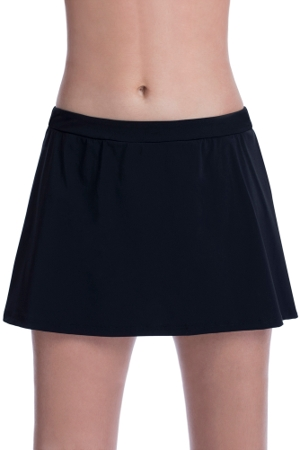 Free Sport by Gottex Black Banded Swim Skirt