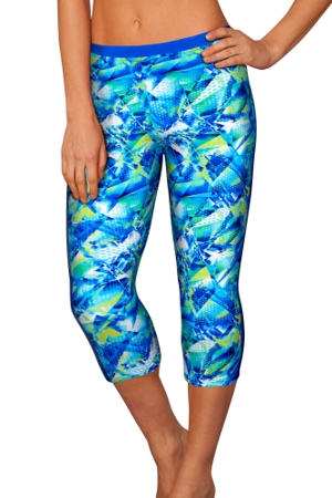 Profile Sport Pacific Blue Capri Leggings