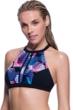 Profile Sport by Gottex Cosmos High Neck Strappy Back Bikini Top