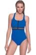 Profile Sport by Gottex Impact Blue Zipper Racerback One Piece Swimsuit
