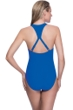 Profile Sport by Gottex Impact Blue Zipper Racerback One Piece Swimsuit