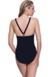Profile Sport by Gottex DNA Black/Gold V-Back One Piece Swimsuit