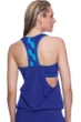 Profile Sport by Gottex DNA Indigo D-Cup Blouson Y-Back Tankini Top with attached Swim Bra