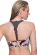 Profile Sport by Gottex Moonstone Brown Mesh Inset Y-Back Bikini Top