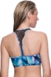 Profile Sport by Gottex Moonstone Blue Mesh Inset Y-Back Bikini Top